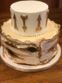 rustic shower cake